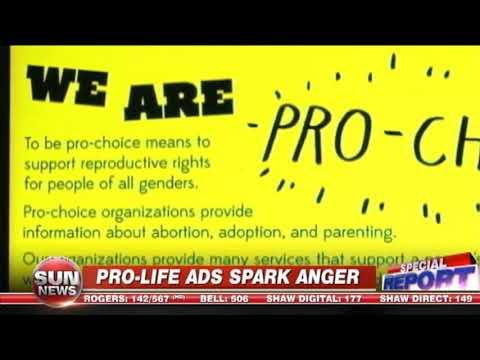 Abortion sign battle