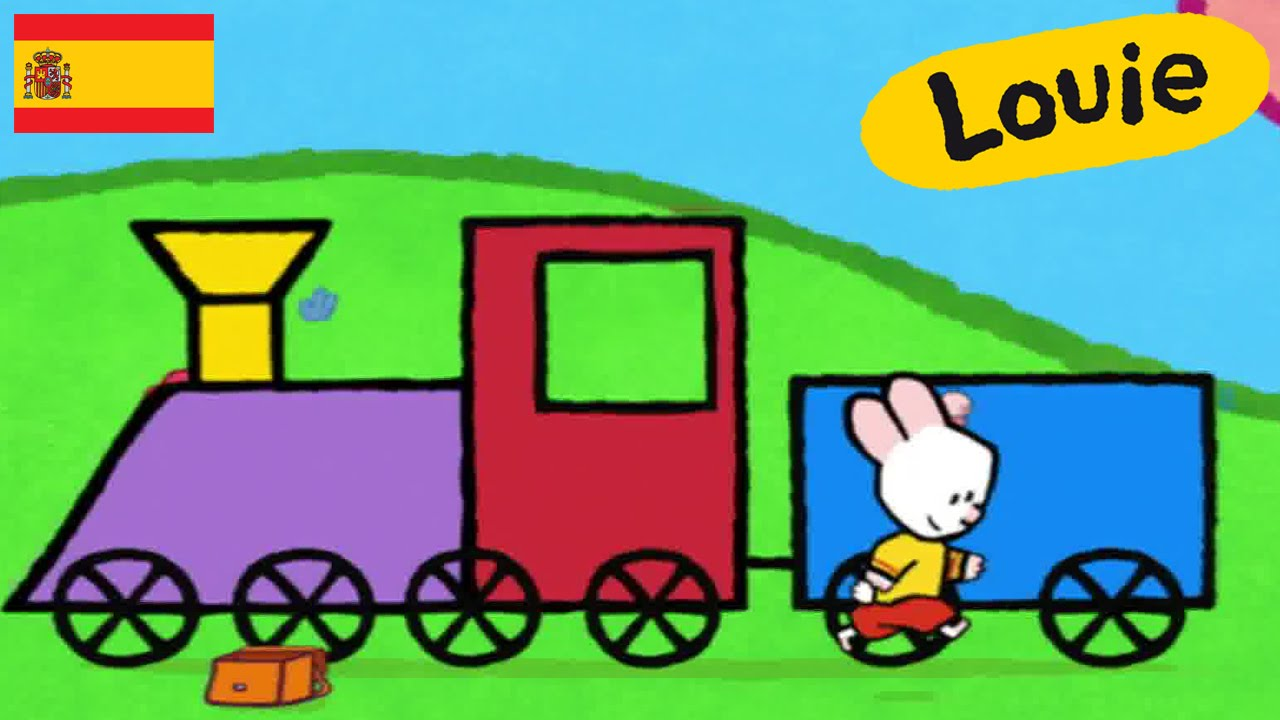 Tren - Louie dibujame un tren | Dibujos animados para niños - YouTube