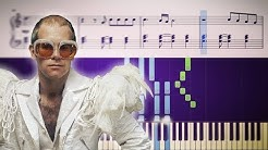 ROCKET MAN (Elton John) - Piano Tutorial + SHEETS