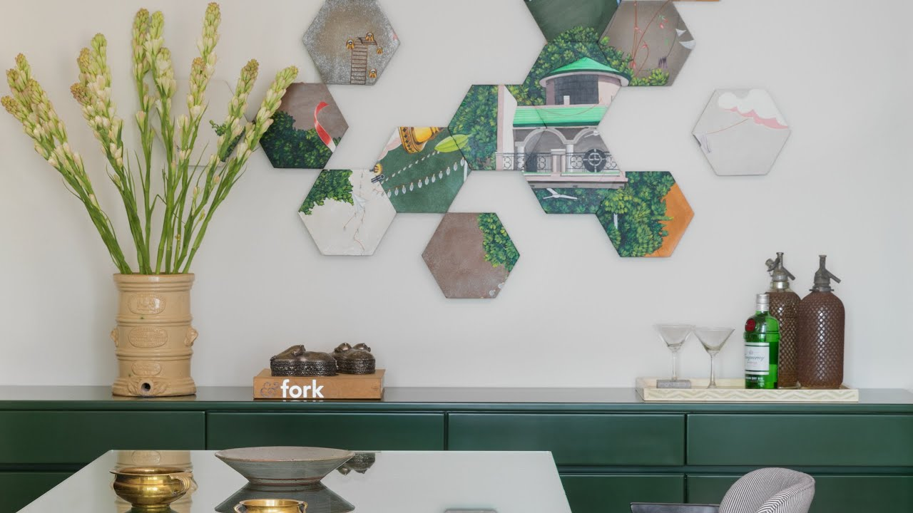 Interior designer Sarah Sham creates a standout home in Mumbai using custom tiles and pops of colour