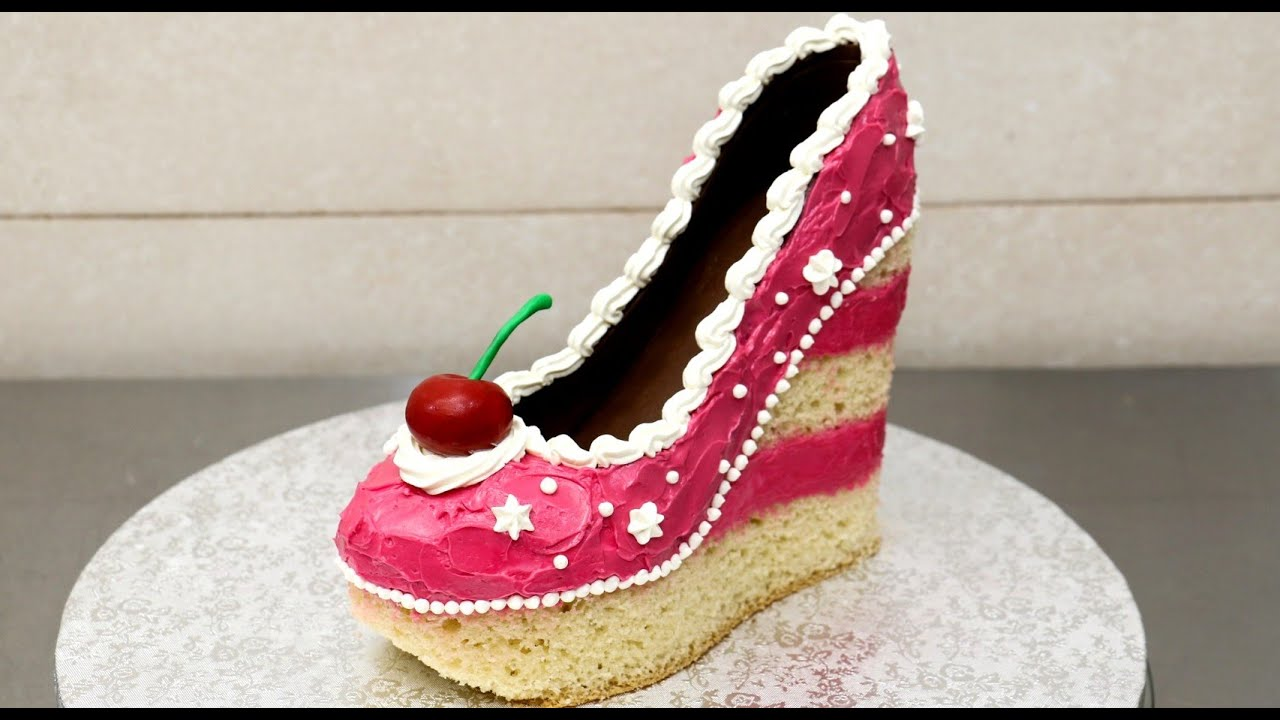 Shoe Cake Idea How To Make Torta Zapato By Cakesstepbystep