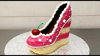 Shoe Cake Idea - How To Make / Torta Zapato by CakesStepbyStep thumbnail