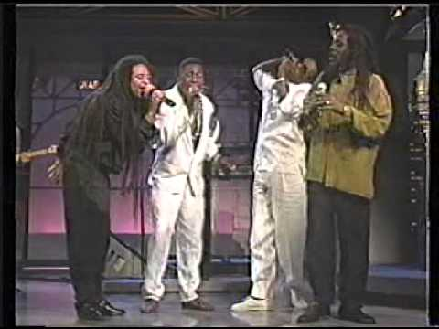 Dennis Brown, Maxi Priest, Shinehead & Little Lenny on Letterman 1991