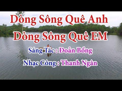 Dòng Sông Quê Anh Dòng Sông Quê Em - Karaoke Nhạc Sống Thanh Ngân