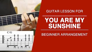 You Are My Sunshine- Carter Style Guitar Lesson- FREE TABS!