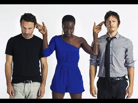 The Walking Dead Cast Funny Photos  Season 3