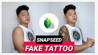 HOW TO EDIT FAKE TATTOO   Snapseed Tutorial   Glaimore D screenshot 5