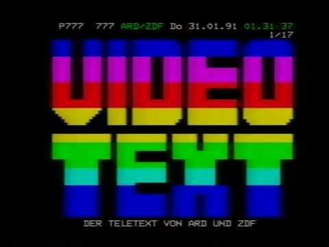 ZDF  Videotext für alle 31.01.1991