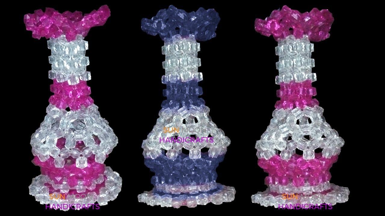 Download পুতির ফুলদানি /How to make beaded flower vase/DIY Flower vase