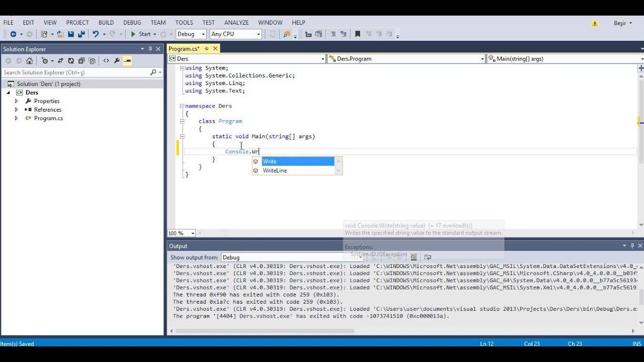 2016 Bmw M5 >> C# Console Write WriteLine - YouTube