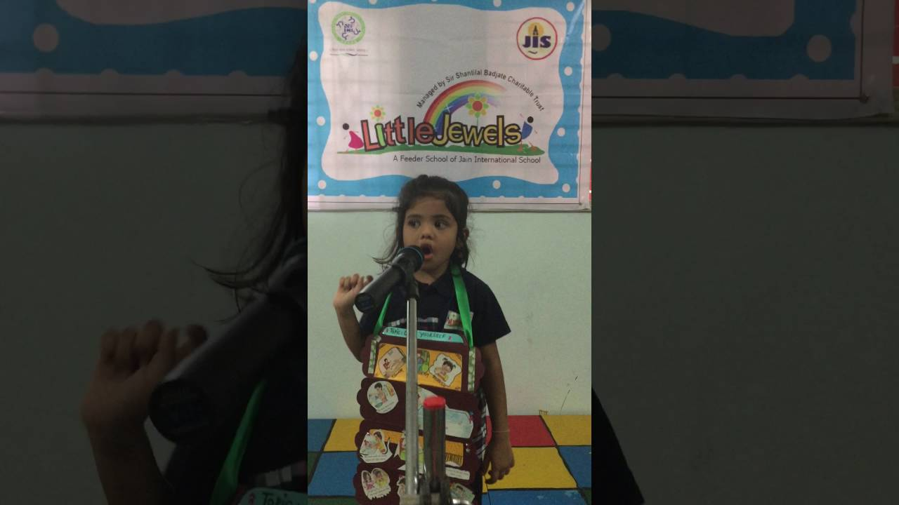 Cleanliness Participant Of English Poem Recitation Competition