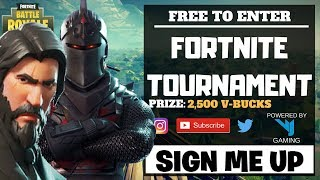 *FORTNITE TOURNAMENT* FREE V-BUCKS!!! STAGE ONE OPEN NIGHT!!! VJF TOURNAMENT!!!