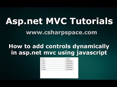 How to add controls dynamically in asp.net mvc using javascript