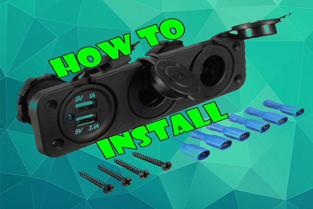 Install - Car 2 USB Port. 2 Cigarette Socket Lighter Adapter - YouTube