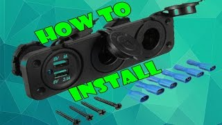 Install - Car 2 USB Port. 2 Cigarette Socket Lighter Adapter(How to install Car 2 USB Port. 2 Cigarette Socket Lighter Adapter instead of original one! If you have any questions ask in comments. Dont forget to press LIKE ..., 2016-07-03T09:49:30.000Z)