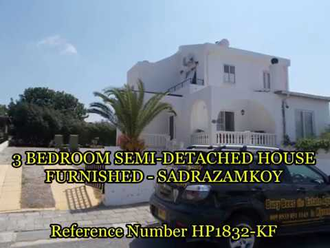 HP1832 - 3 BED SEMI DETACHEDHOUSE IN SADRAZAMKOY