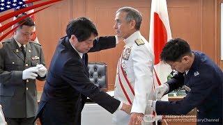 旭日大綬章を受章するハリス米太平洋軍司令官