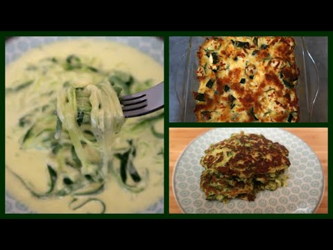 3 Keto Zucchini Recipes | Easy Low Carb Meal Ideas