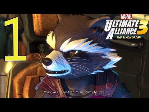 Marvel Ultimate Alliance 3: The Black Order Walkthrough Gameplay Part 1: Kree Ship - 동영상