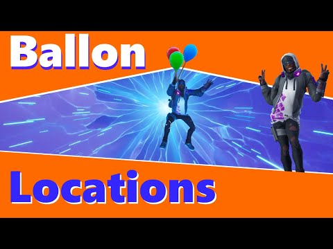 Fortnite Pop party balloon decoration LOCATIONS