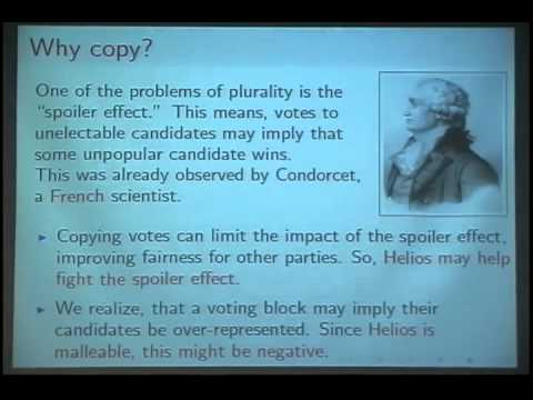 Blinding ballot copying in Helios: from Condorcet to IACR