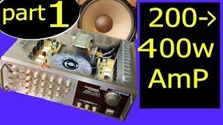 400w audio amplifier circuit diagram