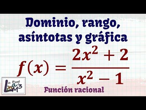 Dominio, rango, asíntotas y gráfica de una función racional | Ejercicio 4 | La Prof Lina M3