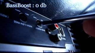 how to set  amplifier gain with multimeter