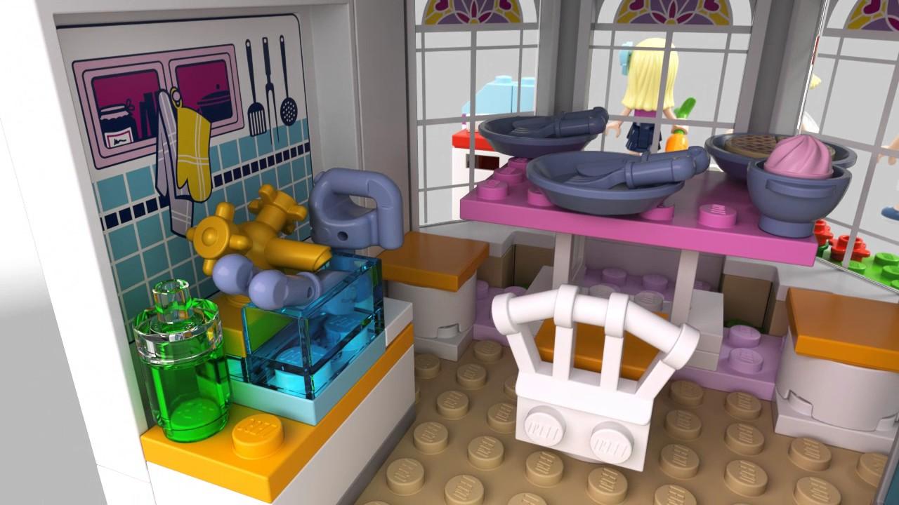 lego friends stephanie 39 nin evi 41314 youtube. Black Bedroom Furniture Sets. Home Design Ideas