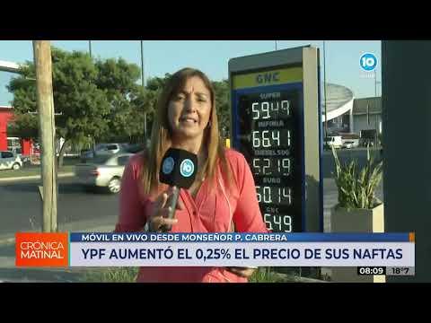 YPF subió el precio de sus naftas por traslado de actualización impositiva