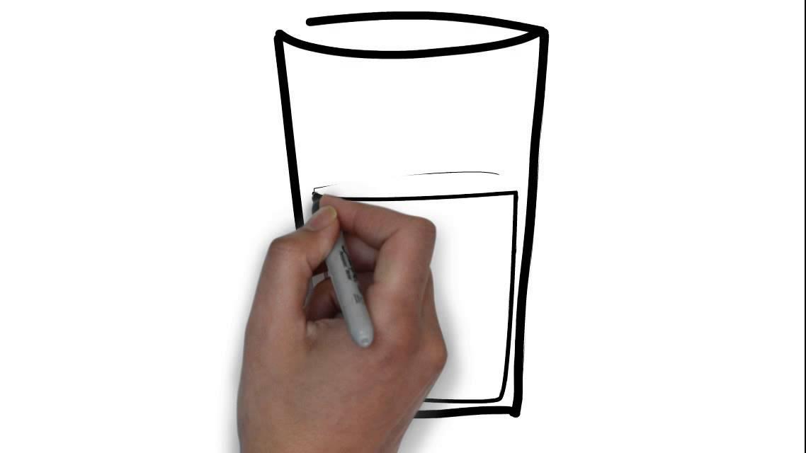 Cómo Dibujar Un Vaso De Leche