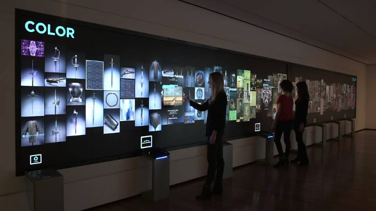 美國俄亥俄洲 Cleveland 藝術博物館互動式數位顯示牆 Youtube