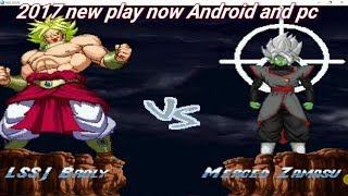 Broly vs MERGED Black goku mugen fight/ download and play/ in your PC and Android