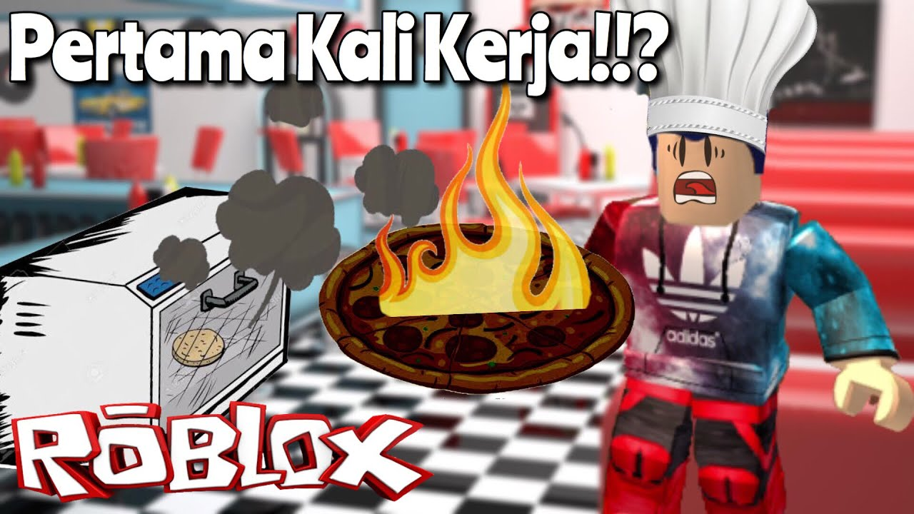 Pizza Gosong Wkwk Roblox Work At Pizza Place Indonesia - funnel cake on roblox pizza game on roblox