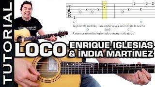 como tocar LOCO de Enrique Iglesias India Martínez tutorial en guitarra