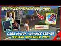 CARA MASUK ADVANCE SERVER FREEFIRE TERBARU NOVEMBER 2020 - GARENA FREEFIRE