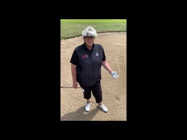 Tricky bunker play with Dame Davies