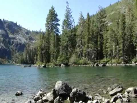 Castle Lake in Siskiyou county, overlooking Mt. Shasta