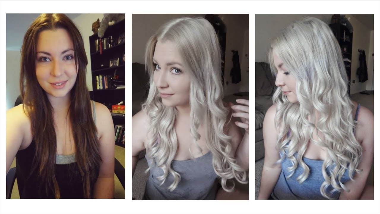How I Bleached My Hair Dark Brown To Light Ash Blonde