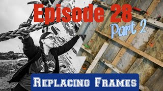 Ep 28 part 2 - Replacing Oak Frames on our WW2 Wooden Boat Project