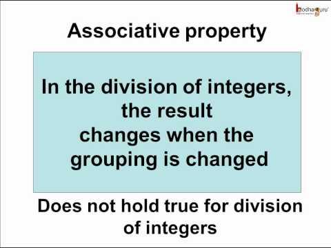 Math - Integers - Associative property of division - English