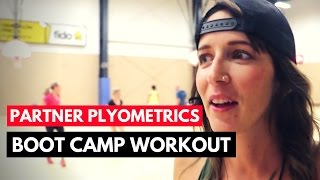 Partner Plyometric Circuit - Boot Camp Circuit Ideas