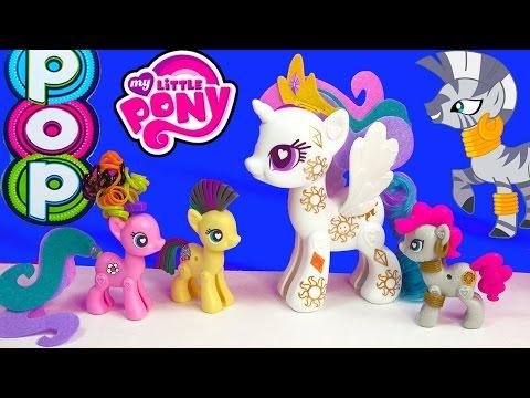 MLP POP My Little Pony Pop Cutie Mark Magic Princess Celestia Zecora  Kit Playset Toy Unboxing