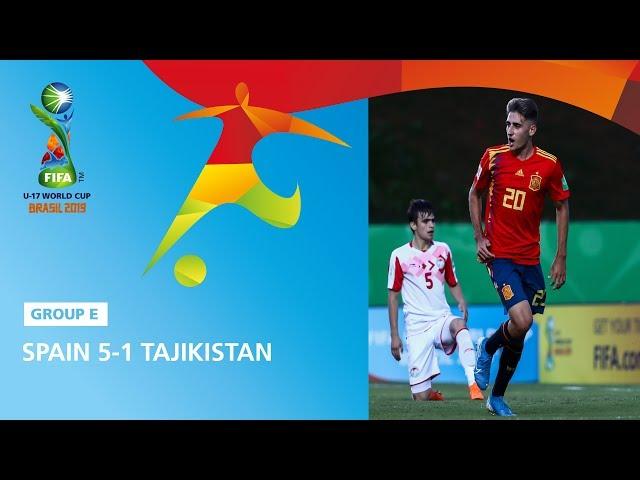 Spain v Tajikistan Highlights - FIFA U17 World Cup 2019 ™