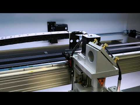 Hybrid 130W CO2 laser metal cutting machine. LightObject @ California