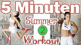 Tabata Workout - 5 Minuten - SOS Summer Shred - Zuhause trainieren und Fett verbrennen