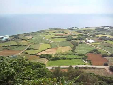 与論城跡からのパノラマ風景