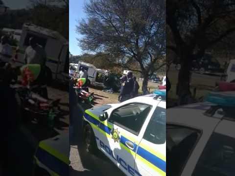 A man was seriously injured during a car crash.