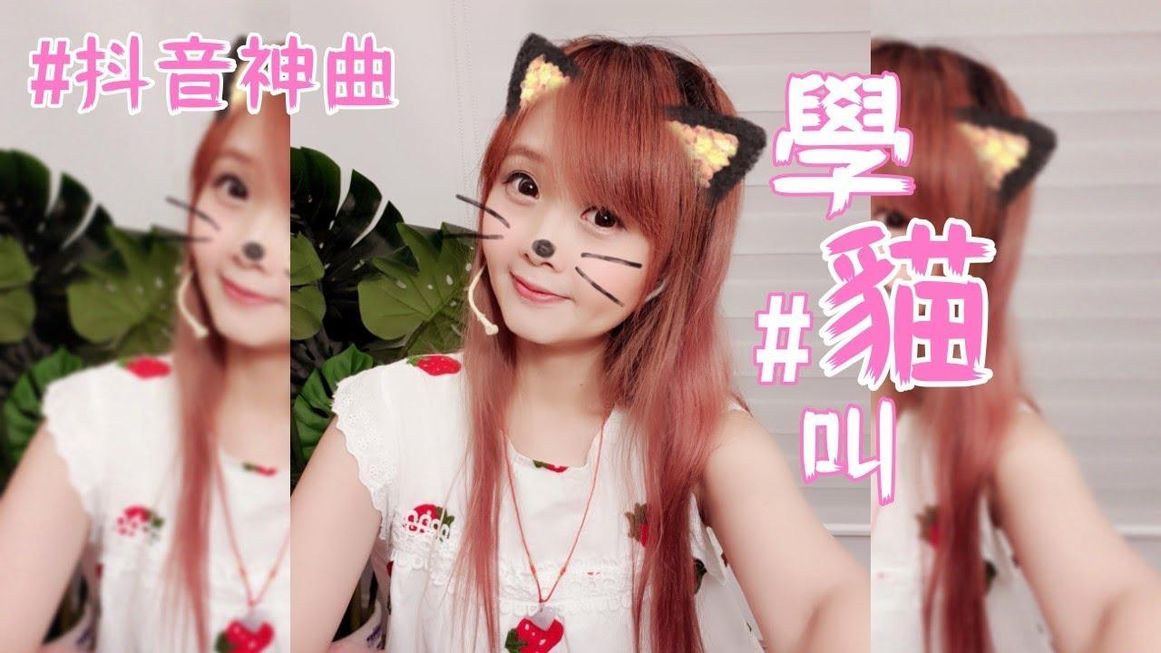 #抖音神曲#學貓叫Cover -- 愛啾ღ - YouTube