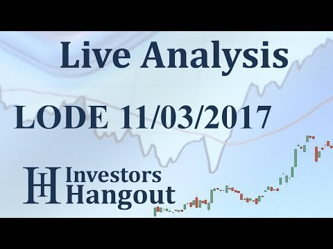 LODE Stock Live Analysis 11-03-2017